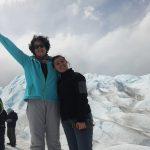 Keiko em trekking no Glaciar Perito Moreno na Argentina