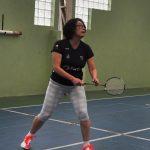 Keiko treinando Badminton