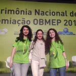 Nara e suas filhas na OBMEP2015