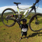 Moreno e sua bike - novembro de 2014