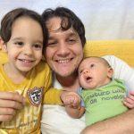 Flávio Marim e os filhos Pedro e Felipe
