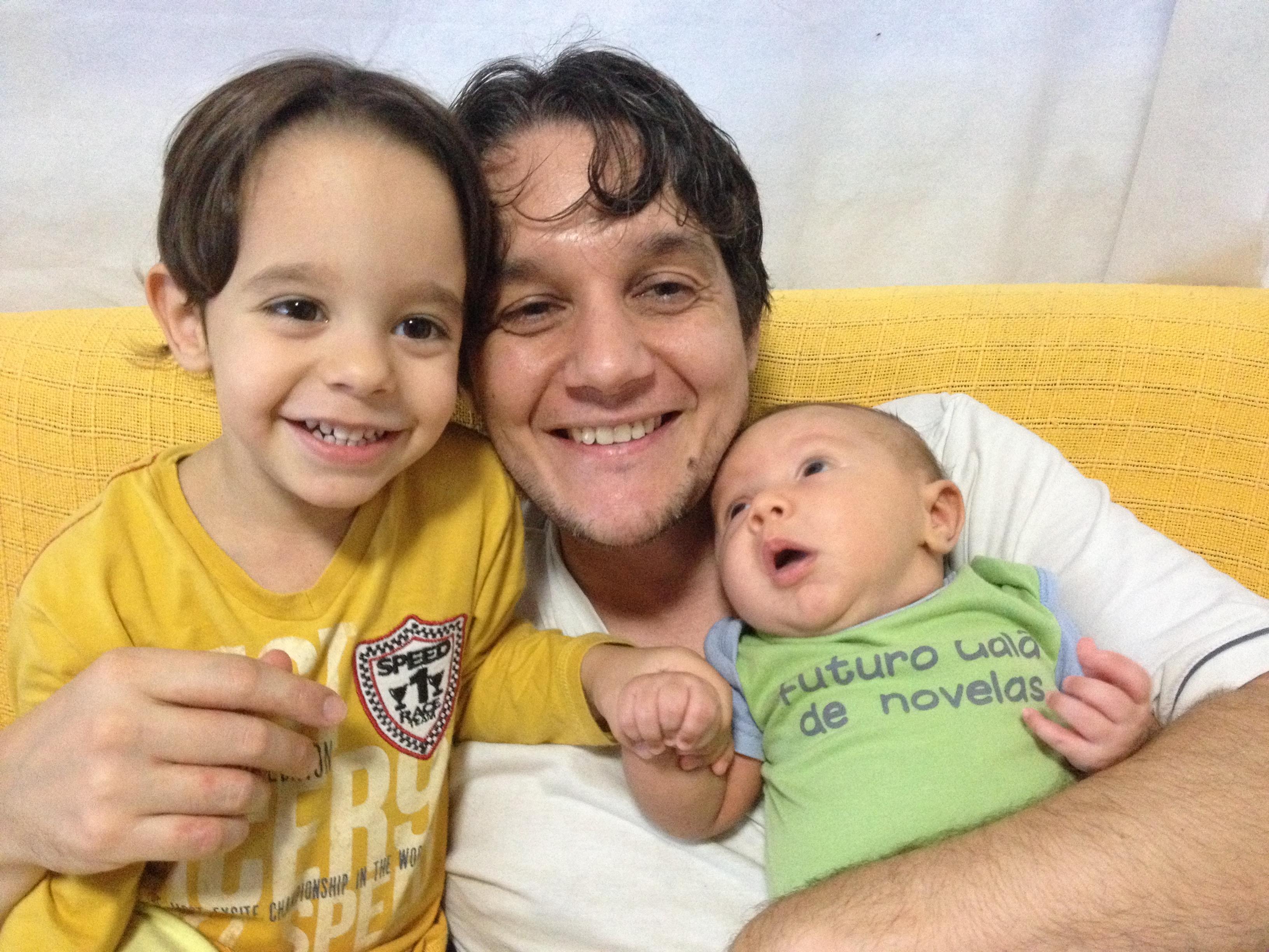 Flávio Marim e filhos