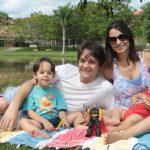Flávio Marim e família - esposa Elaine e os filhos Pedro e Felipe