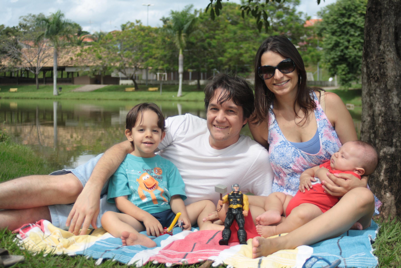 Flávio Marim e família