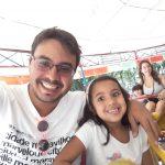 Renato e a filha Victoria