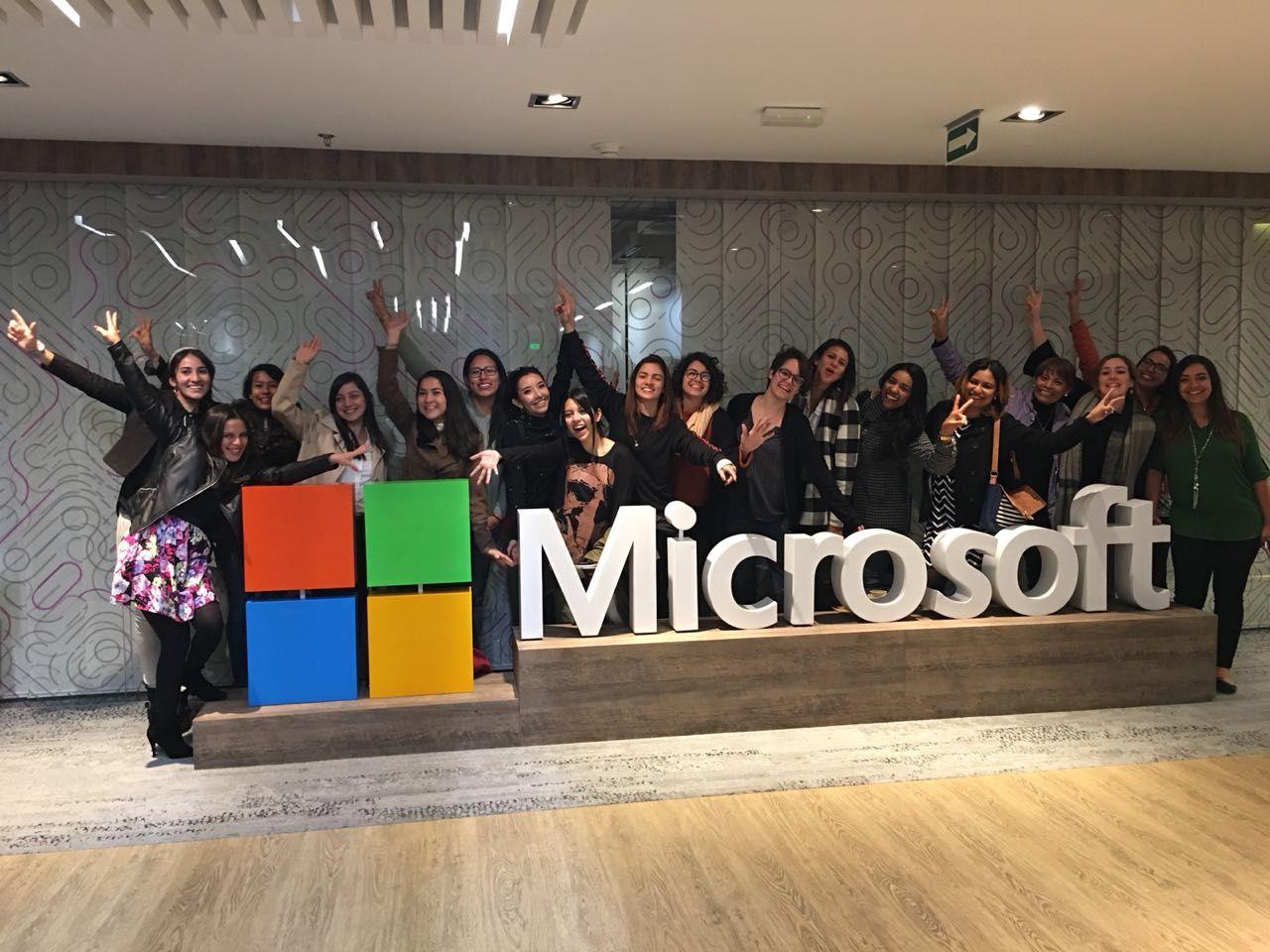 Foto das Bolsistas no Pré-evento da Microsoft