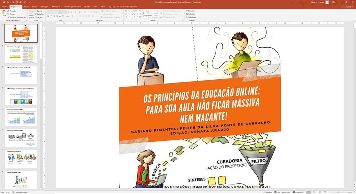 Apresentação sobre os Princípios da Educação Online