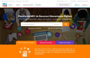 Tela inicial do portal MEC