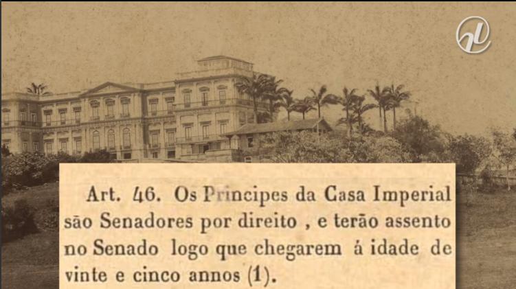 Figura 3 – Artigo 46 de Constituição do Império de 1824 - Fonte: https://www12.senado.leg.br/noticias/especiais/eleicoes-2014/videos/como-o-brasil-votava-princesa-isabel-a-primeira