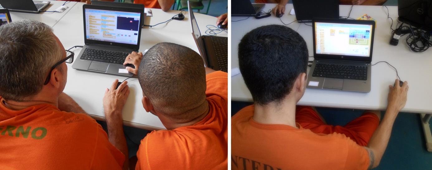 Presos estudando Scratch