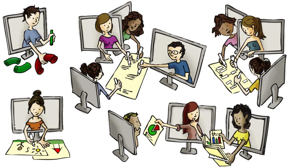 Atividades autorais online: aprendendo com criatividade