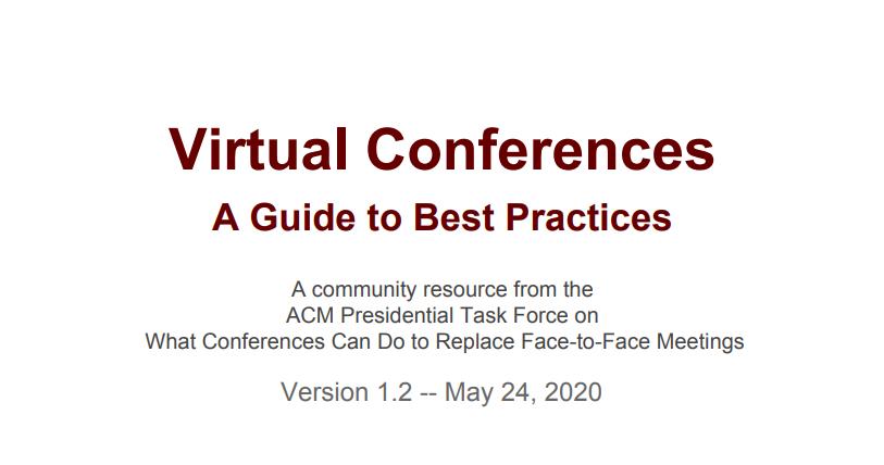 Apresentação do Guia ACM Report on Virtual Conferences