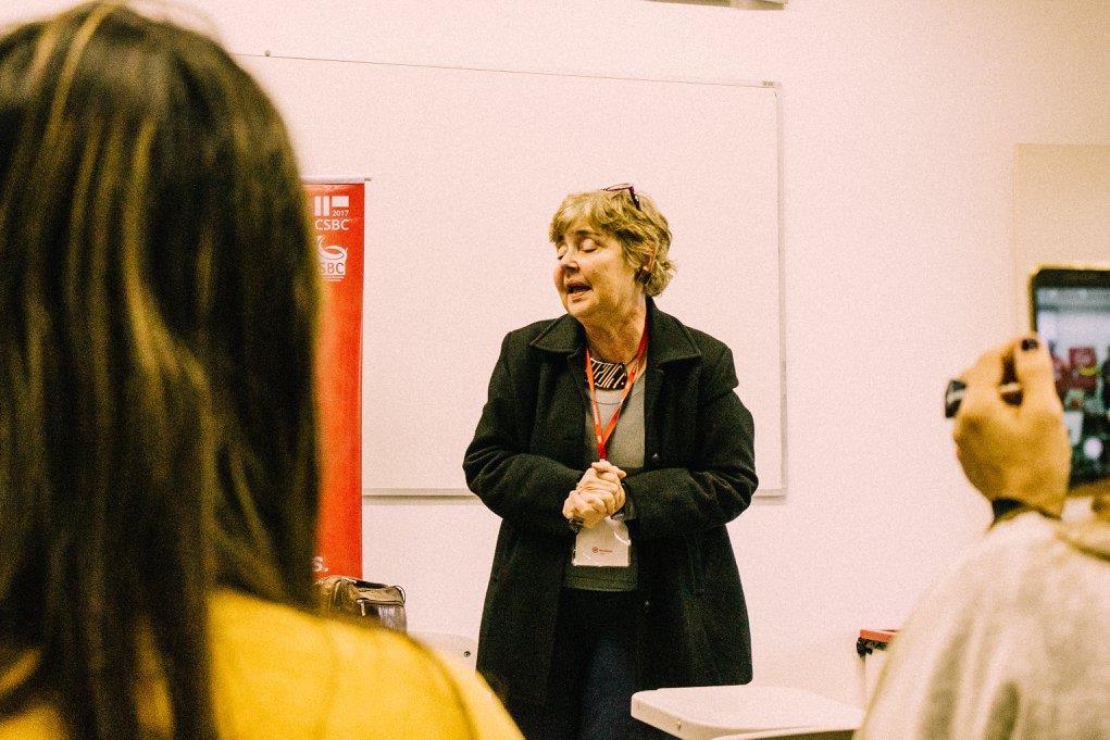 Professora Claudia Bauzer Medeiros, fundadora do WIT
