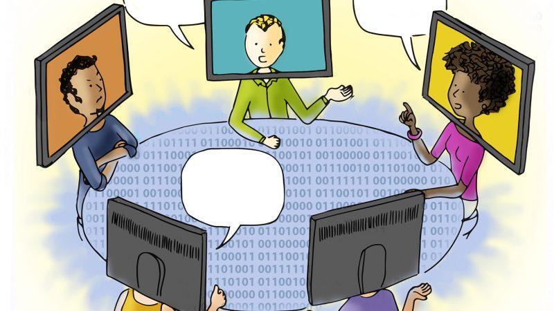 Há conversação em sua aula online?