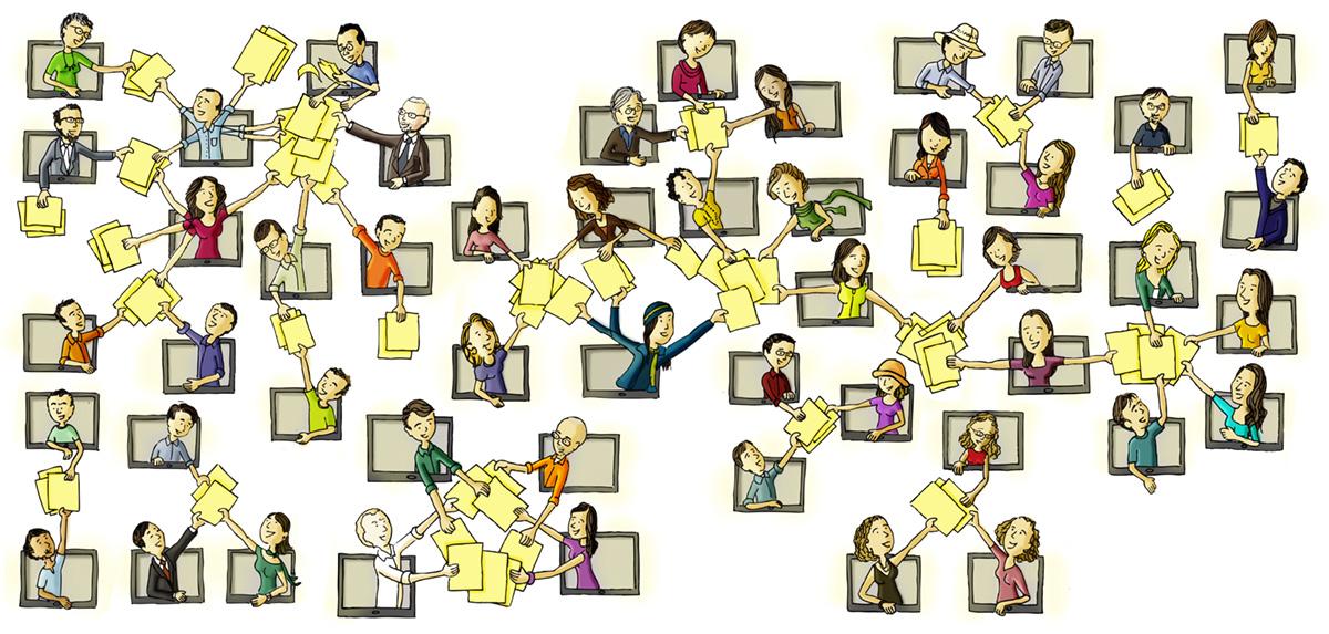 Aprendizagem online é em rede, colaborativa: para o aluno não ficar estudando sozinho a distância